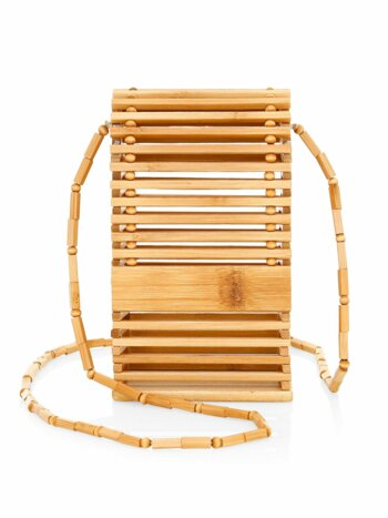 Slyva Bamboo Wood Crossbody Bag
