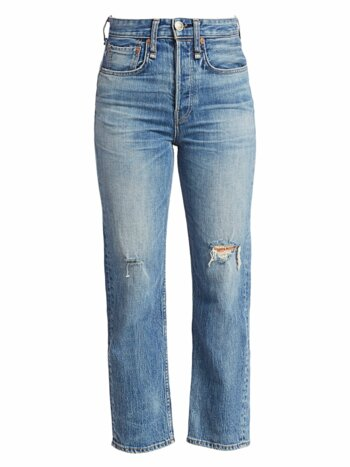 Maya High-Rise Distress Ankle Jeans