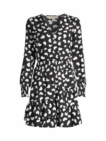 Petal-Printed Wrap Dress