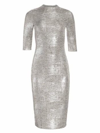 Delora Fitted Metallic Dress
