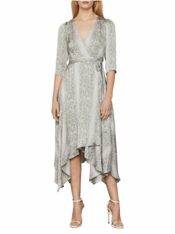 Python-Print Asymmetrical Wrap Dress