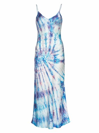 Tie-Dye Silk Slip Dress
