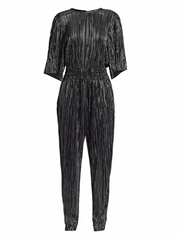 Chimbote Metallic Pleated Popover Jumpsuit