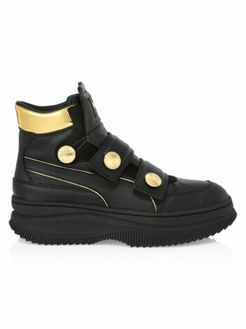 Puma x Balmain Deva Straps Leather Sneakers