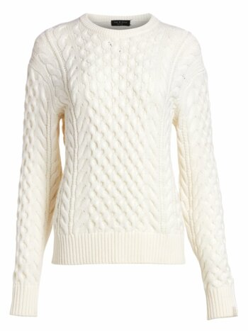 Aran Cable Knit Crewneck Sweater
