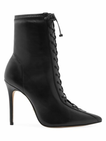 Tennie Lace-Up Mid-Calf Point Toe Boots