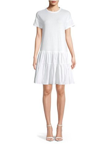 Tiered Cotton A-Line Dress