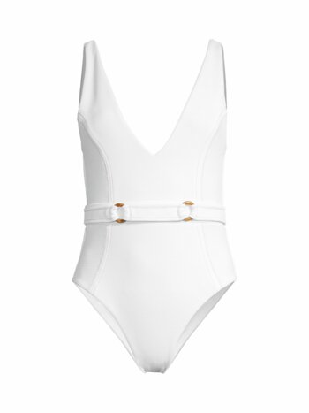 The New Wave Kaia Deep-V One-Piece Swimsuit