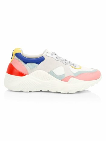 Claudine Colorblock Leather Sneakers