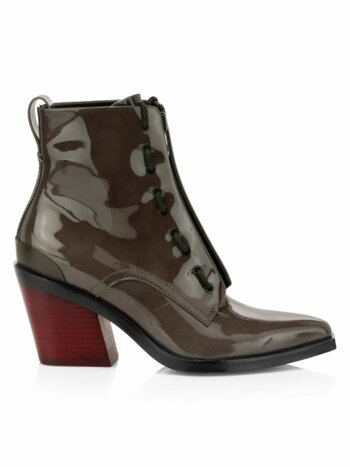 Ryder Zip-Up Patent Leather Boots