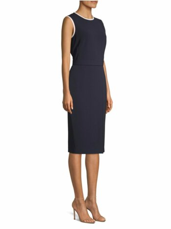 Farad Sleeveless Contrast Trim Sheath Dress