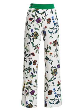 Floral Silk Track Pants