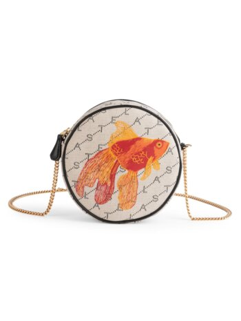 Mini Goldfish Monogram Canvas Circle Bag