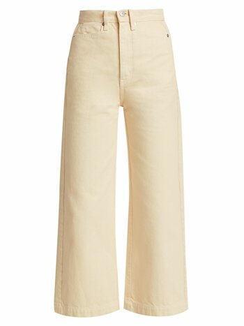 Sand Denim Culottes