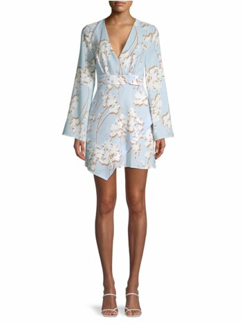 Floral Cocktail Faux Wrap Dress