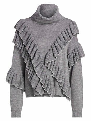 Libbie Ruffle-Trim Turtleneck Sweater