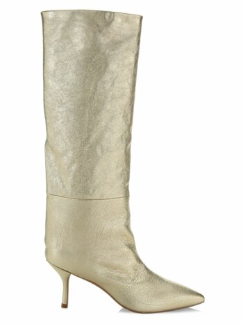 Magda Mid-Calf Metallic Leather Boots