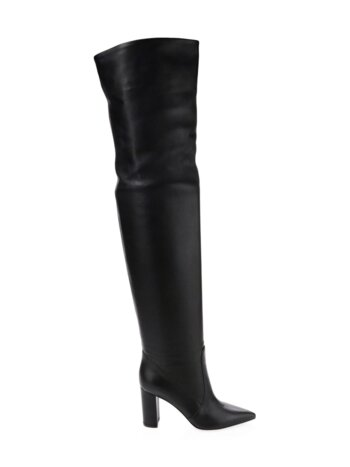 Leather Over-The-Knee Slouchy Boots