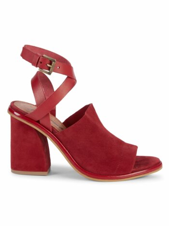 See Ya There Suede Heeled Sandals