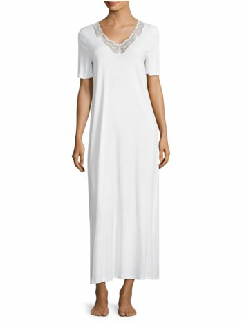 Valencia Lace-Trimmed Cotton Gown