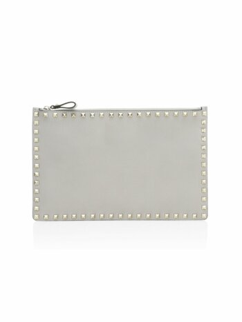 Rockstud Large Leather Pouch