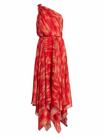 Printed Braided Strap Gown