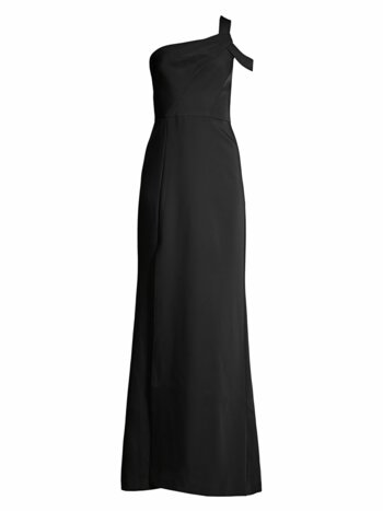 One Cold-Shoulder Column Gown