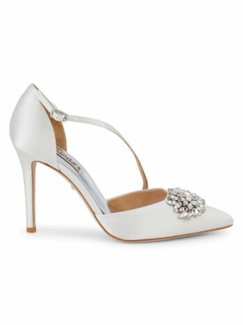 Palma Bejewled Satin d''Orsay Pumps