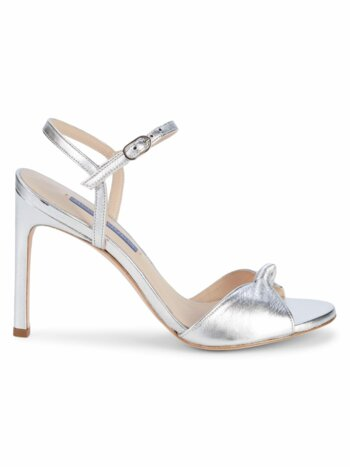 Gloria Metallic Leather Stiletto Sandals
