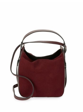 Molly Suede Mini Bucket Bag