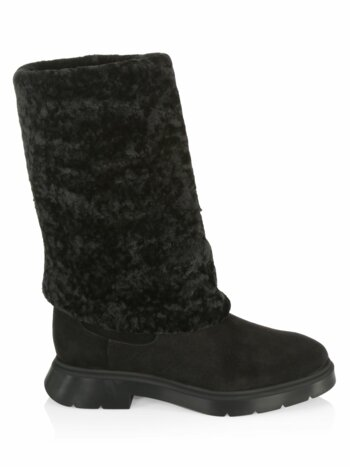 Luiza Shearling & Suede Knee-High Boots