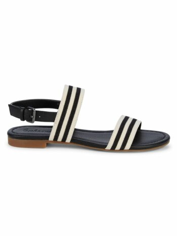 Andrew Striped Ankle Strap Sandals