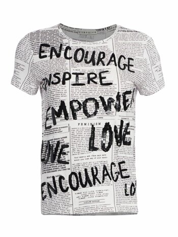 Rylyn Embellished Newspaper Tee