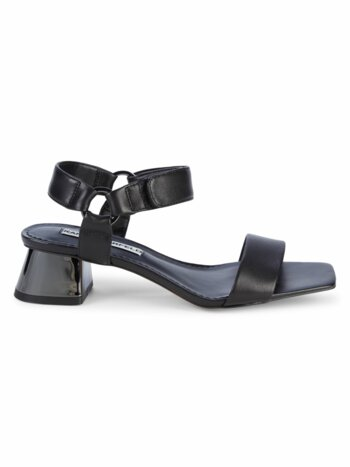 Morico Leather Block-Heel Sandals