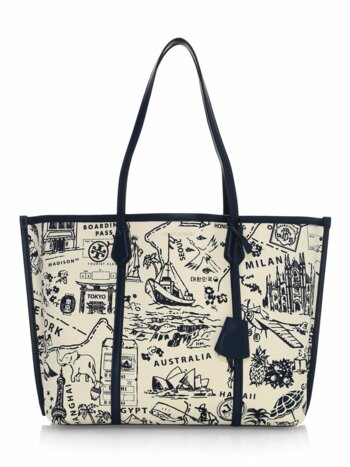Perry Print Canvas Tote