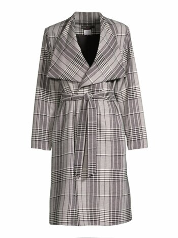 Ginny Plaid Wrap Jacket