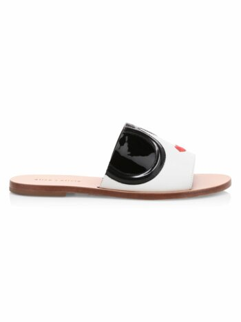 Hazel Stace Face Leather Slide Sandals