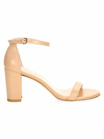 Nearly Nude Leather Sandals