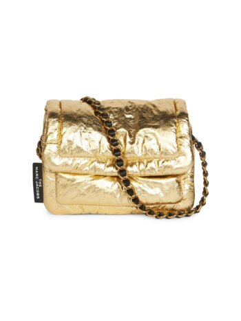 Mini The Pillow Metallic Leather Crossbody Bag