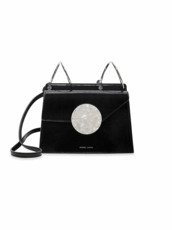 Phoebe Bis Accordion Patent Leather Bag