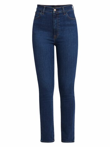 1212 Runway High-Rise Slim-Fit Straight-Leg Jeans