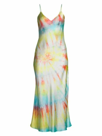 Tie Dye Silk Slip Dress