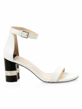 Saturn Leather Block Heel Sandals