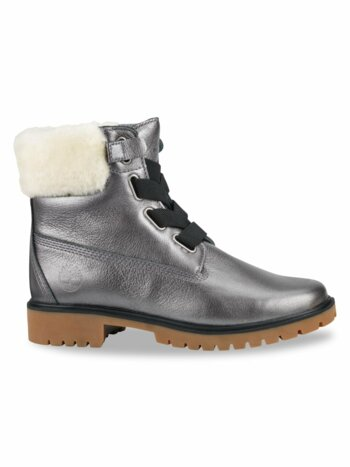 Jayne Convenience Shearling-Trimmed Leather Boots