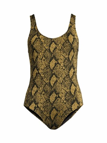 Anne-Marie Snake-Print One-Piece Swimsuit