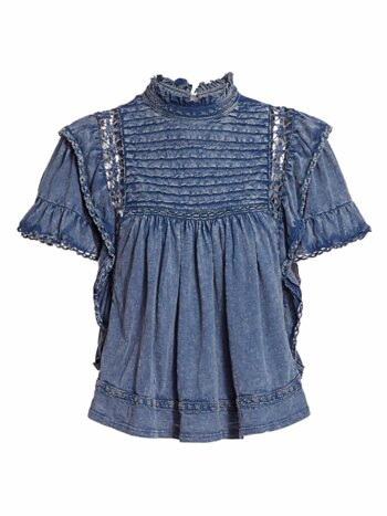 Le Femme Chambray Top
