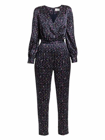 Ainsley Print Stretch-Silk Jumpsuit