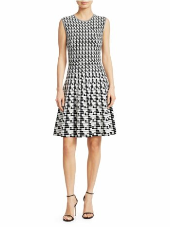 Soundboard Print Flounce Dress