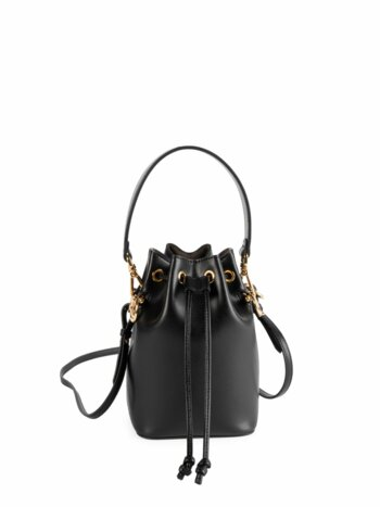 Micro Mon Tresor Leather Bucket Bag
