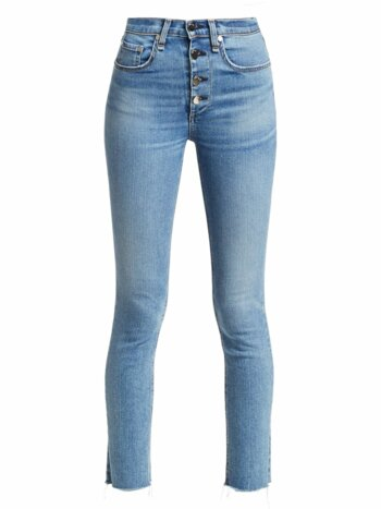 Rosie Exposed Button Ankle Skinny Jeans
